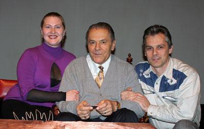Станислав Гроф (в центре). Ирина и Сергей Попроцкие (слева и справа соответсвенно).
